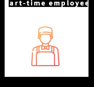アルバイトさん募集要項  Part-time employee